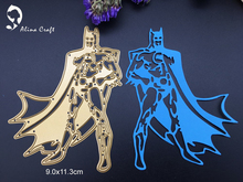 Metal cutting dies batman and Robin movie hero  Scrapbook card album paper craft home decoration embossing stencil cutter