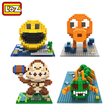LOZ Pixels Figure Building Blocks Toy Pacman Pac Man Orangutan Octopus Chilopod Assemblage Toy Offical Authorized Distributer