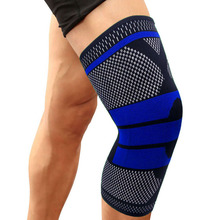 1 Pcs Elasticity Long Knee Pads Knee Support for Running,Cycling,Jogging,Sports,Arthritis&Injury Recovery Kneepad Warm Protector(China)