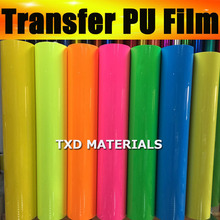 Super quality heat transfer vinyl for cutter plotter, PU Heat Transfer Film for Garment 50x100cm in one lot by free shipping
