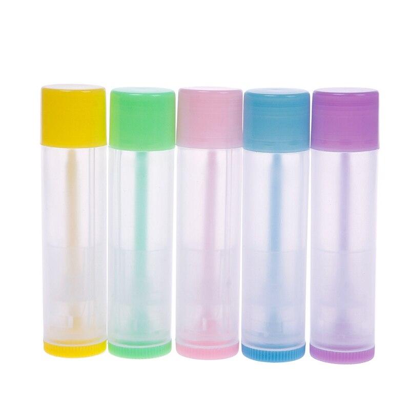 10PCS 5g DIY Empty Colorful transparent lip balm lipstick cream tube bottle Mouth Lip Balm Stick Sample Cosmetic Container ZKH11<br><br>Aliexpress