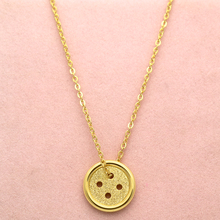 Top Quality Lucky Pinocchio Necklaces Stainless Steel Chain Gold Silver Rose Gold Round Button Necklace Jewelry Girlfriend Gift(China)