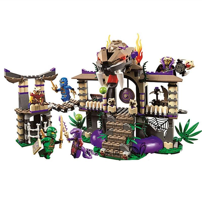 Lepin 528pcs 10324 Enter Serpent Lloyd Jay Kapaurai Ninjagoe Thunder Swordsman Building Blocks Bricks Toys Compatible Legoe<br>