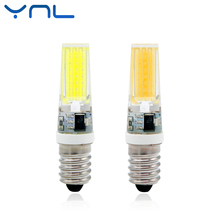 YNL Dimmable LED E14 Lamp AC 220V 9W Mini COB LED E14 Bulb NEW Arrival 360 Beam Angle Replace Halogen Chandelier Lights(China)