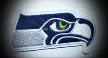 Blue EAGLE HEAD - Seattle Seahawks EMBROIDERED Iron On Football Patch/logo/badge(China)
