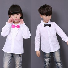 New Girls School Blouses White Boys And Girls Boys Shirts  Boys Dress Shirt  Girls Blouse 6BBL105