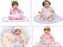 hot sale 40 42 cm Silicone Reborn baby dolls toys 16 inch doll find an acrostic vinyl reborn doll body of a doll girls toys(China)