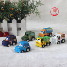 1PC Kids Baby Pull Back Car Toys Plastic Model Diecasts Vehicles For Children Boys 2015 hotwheels(China)