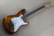 Top Quality Wholesale custom body Stratocaster Chrome Tremolo Floyd Rose Electric Guitar @31(China)