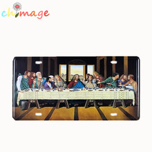 Christ Jesus's last supper picture CAR PLATE Vintage Tin Sign Bar pub home Wall Decor Retro Metal Art Poster