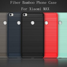 5 Color The Latest Carbon Fiber Bamboo Phone Cover Case For Xiaomi Mi Max Luxury Mobile Phone Bag Case For Xiaomi Mi Max
