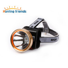 Superbright LED Headlamp 2 Light Model Waterproof Headlight Built-in 3x18650 Rechargeable Batteries Adjustable Gold Head Troch