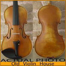 "100% Handmade Antonio Stradivarius 1714 ""Soil"" Violin Model, Antique varnish,Free violin case , bow and rosin, No.2284"