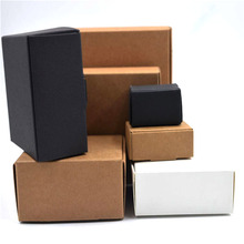 54 sizes Black white Kraft paper gift packaging box carton cardboard box soap Jewelry Candy package packing paper box small(China)