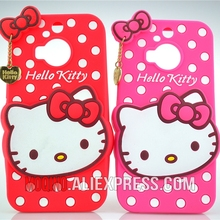 For HTC One M9+ Case 3D Lovely Cute Hello Kitty Kt Cat Silicon Back Case Soft Cover Phone Case