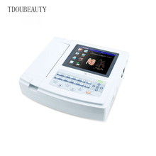 TDOUBEAUTY Download function ECG1200G Channels 12-Lead Channel Portable Digital ECG Machine Free Shipping European(China)
