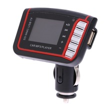 12V 128* 128 1.44 inch LCD Screen Wireless FM Transmitter Car MP3 Player Supports SD TF Card USB Drive Remote Control VOD E#A3