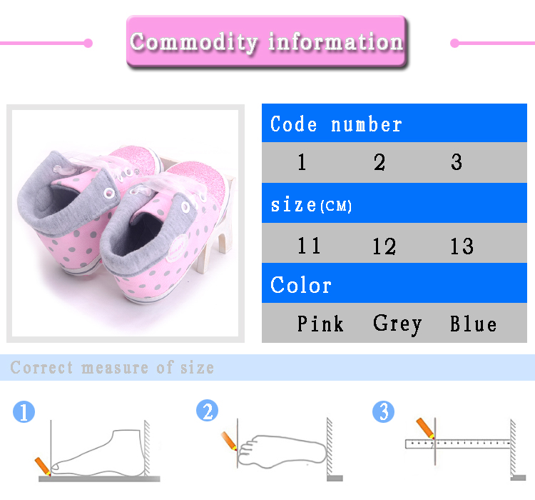 Infant Newborn Baby Girls Boy Glitter Polka Dots Autumn Lace-Up First Walkers Sneakers Shoes Adorable RibbonToddler Canvas Shoes 5