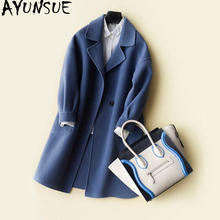 Buy AYUNSUE 2018 New Fashion Winter Jacket Women Cashmere Coats Elegant Slim 100% Wool Coat Female Spring casaco feminino WYQ1229 for $101.15 in AliExpress store