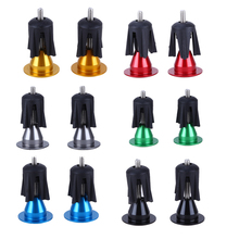 One Pair Bicycle Handle Bar Cap End Plugs Bike Bicycle Aluminum Handlebar Grips Handle Bar Cap End Plugs Bicycle Parts 6Colors(China)