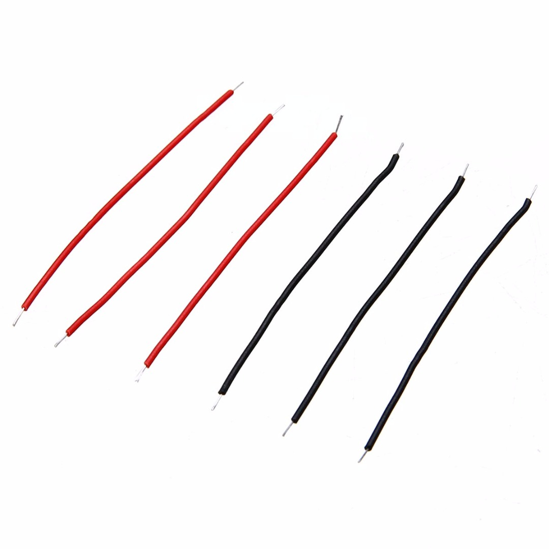 400pcs High Quality Tin-Plated Breadboard Jumper Cable Wire Black/Red 6cm Length Cable Wire Set For Arduino