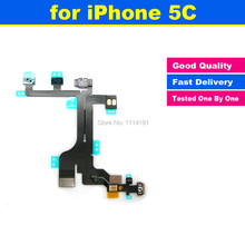 New High Quality For iPhone 5C Power Mute Volume Button Switch Connector On Off Flex Cable Ribbon Mobile Phone Replacement Parts
