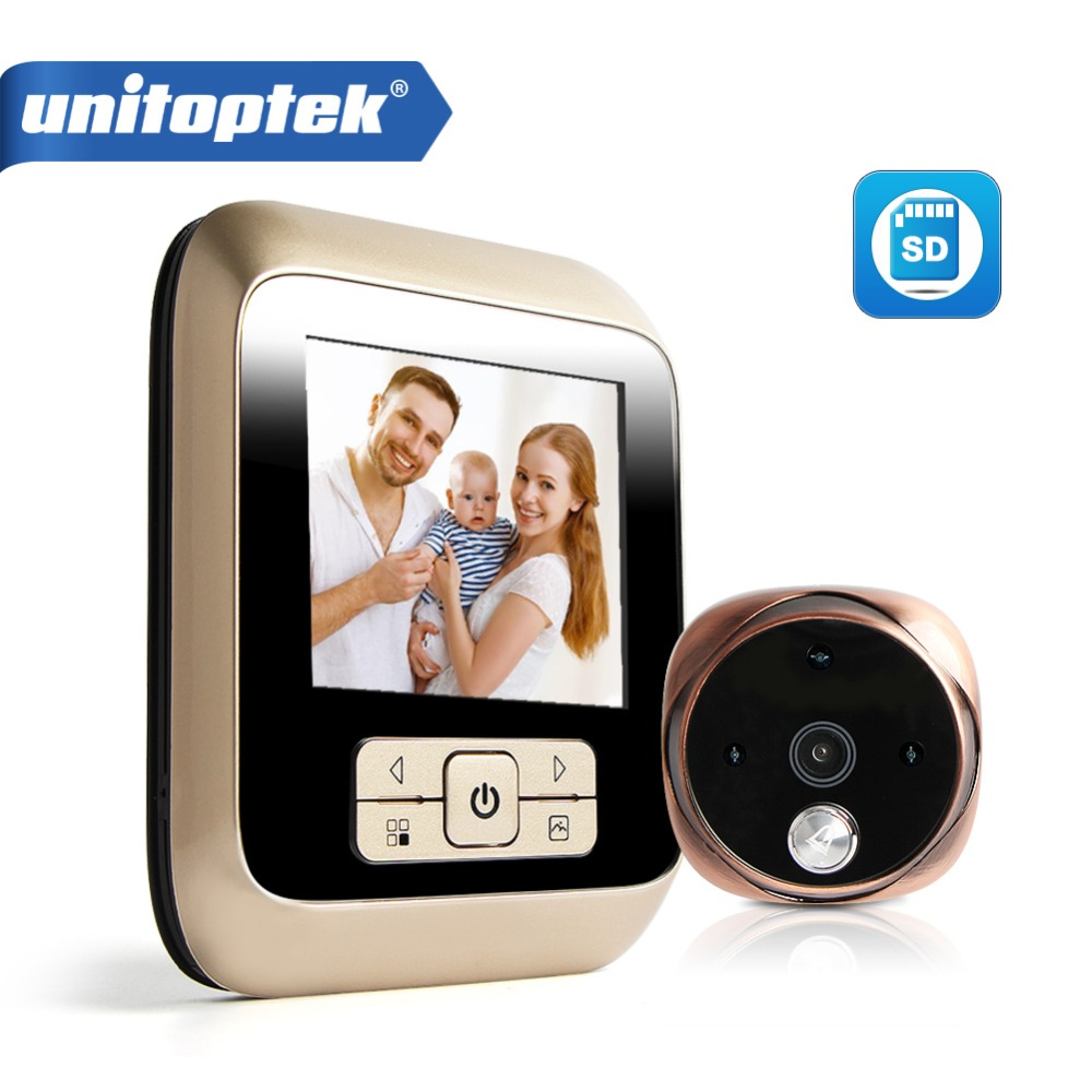 Visual Video Peephole Door Bell Ring 120 Degrees Wide Angle 3.0 Inch Jingle Bell Visual Doorbell DVR Night Vision Camera <br>