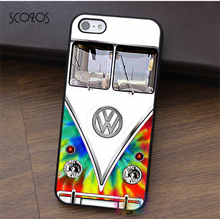 SCOZOS Cover Trendy Tie Dye VW Bus Design phone case for iphone X 4 4s 5 5s 5c SE 6 6s 6 plus 6s plus 7 7 plus 8 8 plus &qq64(China)
