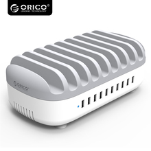 Orico Super Speed USB Charger Station Dock with Holder 10 Ports Multi 120W 5V2.4A*10 USB Charging for Phone Tablet PC DUK-10P(China)