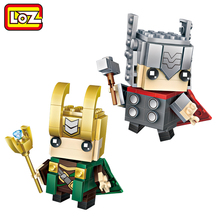 LOZ Thor Loki God Super Hero Model Mini Building Blocks Brick Head Figure Toy For Ages 6+ Offical Authorized(China)