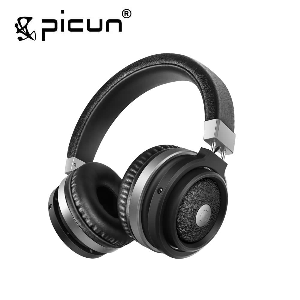 Picun P3 Bluetooth 4.1 Wireless Headphones with Built-in Microphone Headsets Support TF Card for Phone Pad Samsung<br>