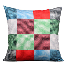 Classic Plaid Pattern Cushion Cover Pillowcase Decorative Home Decor Comfortable Micro fiber Cushion Covers for Sofa TC(319)S(China)