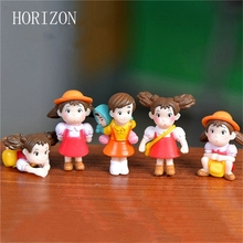 5pcs/lot Cartoon Action Figure Hayao Miyazaki Film Miniature Figurines PVC Japanese Cute Anime Kids Christmas Gift