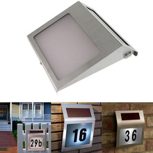 Solar House Number Light LED Lights Alphanumeric Number 3 LED Lamp Garden Outdoor Lighting(China)