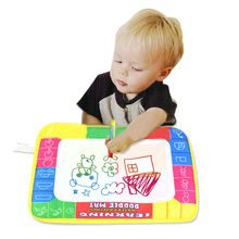 29X19cm Kid Learning Magic Water Painting Doodle Mat Water Pen Drawing Canvas Clean Brand New