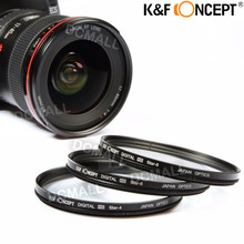 K&F CONCEPT  4 6 8 Point Star Filter Kit 4X 6X 8X Star Filter KIT SET with FREE CASE and Cleaning Cloth for DSLR Camera