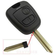 Okeytech New 1pcs/lot 2 Button key cover Straight Car Remote Key Shell For Citroen C1 C3 C5 C4 Berlingo Picasso Saxo Xsara