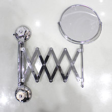 Two-sided bathroom with makeup mirror Telescopic mirror Toilet Suction wall type Folding mirror High-definition magnifying glass