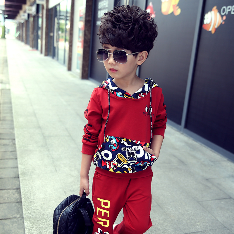 2017 Spring New Boys Clothing Set Long Sleeve Letter Casual Clothing Two Pieces Clothes<br><br>Aliexpress