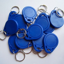 100PCS Blue IC Identification Door Entry Access Key Keyfob Card 13.56MHZ free shipping