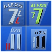 2016 2017 Premier League GIROUD ALEXIS OZIL RAMSEY S.CAZORLA BELLERIN XHAKA football number font print ,Soccer patch badge