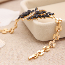 new Design Chain Bangles Zirconia Black Crystal Bracelet & bangles Jewelry Accessories