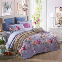 New style 100% cotton comforter sets flower bed linen bedding-set family set 4 pcs duvet cover bed sheets  pillowcases king size