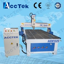 High speed AccTek AKM1325 multifunctional 3d wood design machine / wood cnc machine