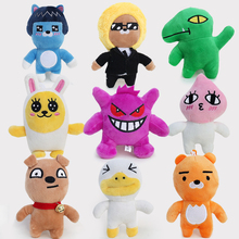 12cm Kakao Friends Plush Toys Korea Cartoon Kakao Friends Kobito Ryan Neo Tube Con Muzi Peach Plush Stuffed Toys Doll Girl Gift