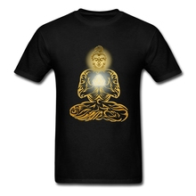 Buddha T Shirts Men Gautama Short Sleeved O Neck Peruvian Cotton Custom Screen Printing Adults Tees Shirt Brand Clothing