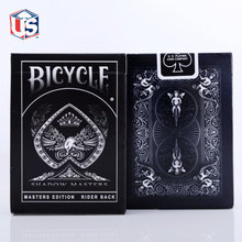 Shadow Masters Original Bicycle Shadow Master Playing Card Black Deck By Ellusionist Creative Poker Magic Props(China)