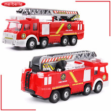 Toy Truck In Original Box Fireman Sam Toys Fire Truck With LED Siren Toys For Boy Educational Toy Water Gun Camion De Bomberos(China)