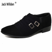 Jack Willden Fashion Men's Leather Slip-On Dress Business Shoes Man Casual Zipper Driving Party Flats Mens Office Career Oxfords