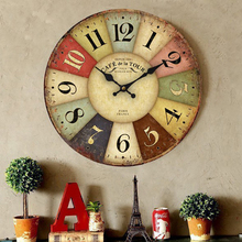 New Arrival Wood Wall Clocks France Paris Antiqued Quartz Wooden Clock 10'inch Home Decoration Big Wall Clocks